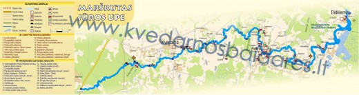 Jūros upės žemėlapis